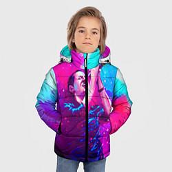 Куртка зимняя для мальчика Chester Bennington: Colors цвета 3D-черный — фото 2