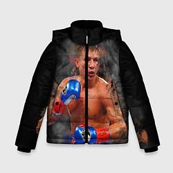 Куртка зимняя для мальчика Геннадий Головкин цвета 3D-черный — фото 1