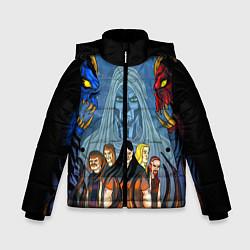 Детская зимняя куртка для мальчика с принтом Dethklok: Heroes, цвет: 3D-черный, артикул: 10134389106063 — фото 1
