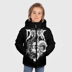 Куртка зимняя для мальчика Dethklok: Goat Skull цвета 3D-черный — фото 2