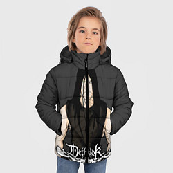 Детская зимняя куртка для мальчика с принтом Dethklok Man, цвет: 3D-черный, артикул: 10134390706063 — фото 2