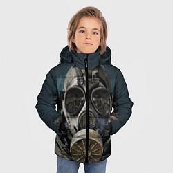 Детская зимняя куртка для мальчика с принтом STALKER: Mask, цвет: 3D-черный, артикул: 10135205106063 — фото 2