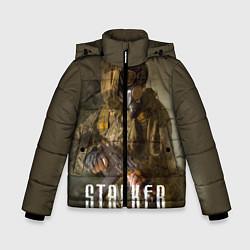 Детская зимняя куртка для мальчика с принтом STALKER: Warrior, цвет: 3D-черный, артикул: 10135205706063 — фото 1