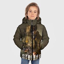 Куртка зимняя для мальчика STALKER: Warrior цвета 3D-черный — фото 2
