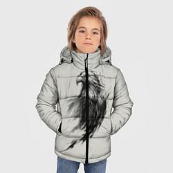 Детская зимняя куртка для мальчика с принтом Дикий орел, цвет: 3D-черный, артикул: 10135213906063 — фото 2
