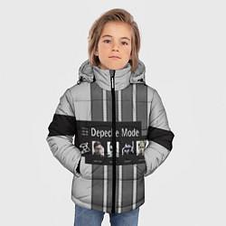 Куртка зимняя для мальчика Группа Depeche Mode цвета 3D-черный — фото 2