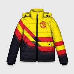 Куртка зимняя для мальчика Man United FC: Yellow style цвета 3D-черный — фото 1