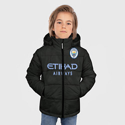 Куртка зимняя для мальчика Man City FC: Black 17/18 цвета 3D-черный — фото 2