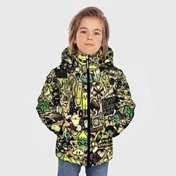 Куртка зимняя для мальчика Стикер бомбинг цвета 3D-черный — фото 2