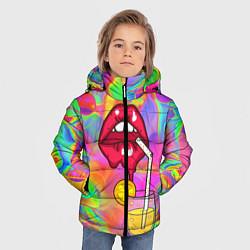 Куртка зимняя для мальчика Cocktail lips цвета 3D-черный — фото 2