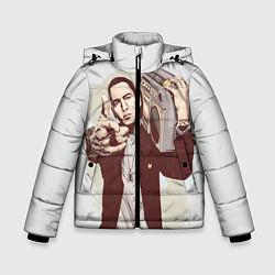 Куртка зимняя для мальчика Eminem: Street Music цвета 3D-черный — фото 1