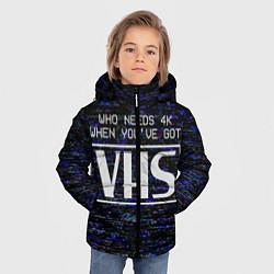 Куртка зимняя для мальчика 4K VHS цвета 3D-черный — фото 2
