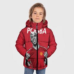 Куртка зимняя для мальчика FC MU: Pogba цвета 3D-черный — фото 2