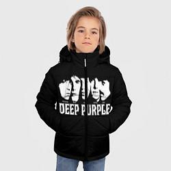 Куртка зимняя для мальчика Deep Purple цвета 3D-черный — фото 2