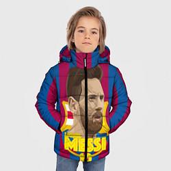 Куртка зимняя для мальчика FCB Lionel Messi цвета 3D-черный — фото 2