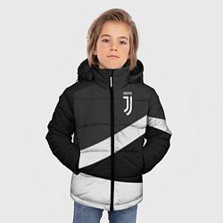 Куртка зимняя для мальчика FC Juventus: Sport Geometry цвета 3D-черный — фото 2