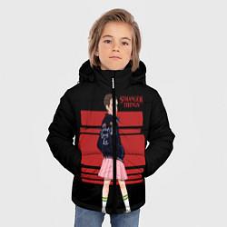Куртка зимняя для мальчика Очень странные дела цвета 3D-черный — фото 2