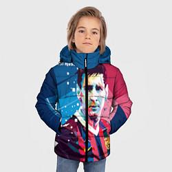Детская зимняя куртка для мальчика с принтом Lionel Messi, цвет: 3D-черный, артикул: 10141374106063 — фото 2