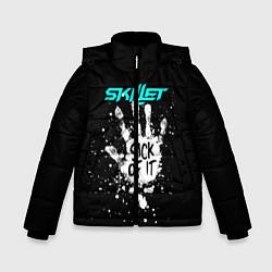 Куртка зимняя для мальчика Skillet: Sick of it цвета 3D-черный — фото 1