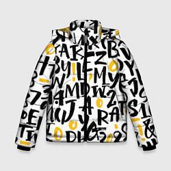 Детская зимняя куртка для мальчика с принтом Letters bombing, цвет: 3D-черный, артикул: 10142799106063 — фото 1
