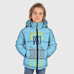 Куртка зимняя для мальчика Best Dad Ever цвета 3D-черный — фото 2