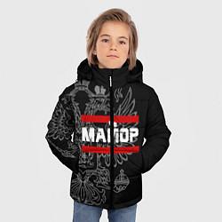 Куртка зимняя для мальчика Майор: герб РФ цвета 3D-черный — фото 2