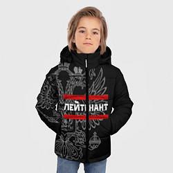 Куртка зимняя для мальчика Лейтенант: герб РФ цвета 3D-черный — фото 2