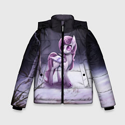 Детская зимняя куртка для мальчика с принтом Violet Pony, цвет: 3D-черный, артикул: 10146367906063 — фото 1