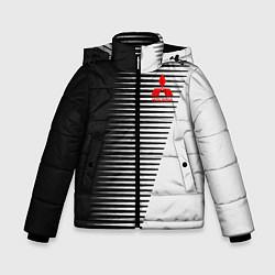 Куртка зимняя для мальчика MITSUBISHI SPORT цвета 3D-черный — фото 1