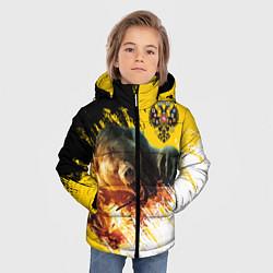 Детская зимняя куртка для мальчика с принтом Имперский медведь, цвет: 3D-черный, артикул: 10147133306063 — фото 2
