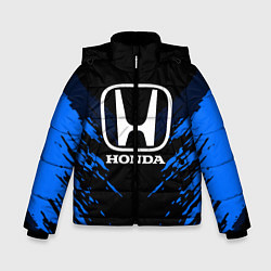 Куртка зимняя для мальчика Honda: Blue Anger цвета 3D-черный — фото 1