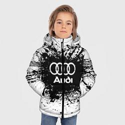 Куртка зимняя для мальчика Audi: Black Spray цвета 3D-черный — фото 2