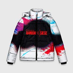 Куртка зимняя для мальчика R6S: Colour Style цвета 3D-черный — фото 1