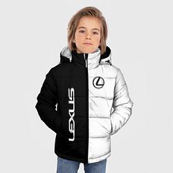 Куртка зимняя для мальчика Lexus: Black & White цвета 3D-черный — фото 2
