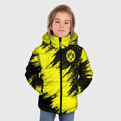 Куртка зимняя для мальчика FC Borussia Dortmund цвета 3D-черный — фото 2