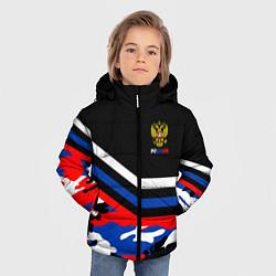 Куртка зимняя для мальчика Россия: Камуфляж цвета 3D-черный — фото 2