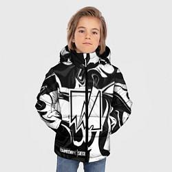 Куртка зимняя для мальчика Rainbow Six: Black & White цвета 3D-черный — фото 2