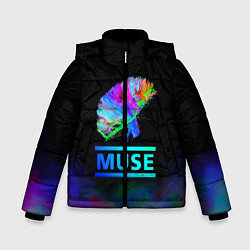 Куртка зимняя для мальчика Muse: Neon Flower - фото 1