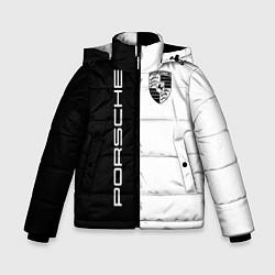 Куртка зимняя для мальчика Porsche Design цвета 3D-черный — фото 1
