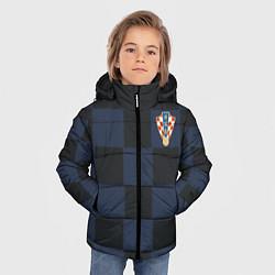 Куртка зимняя для мальчика Сборная Хорватии: Гостевая ЧМ-2018 цвета 3D-черный — фото 2