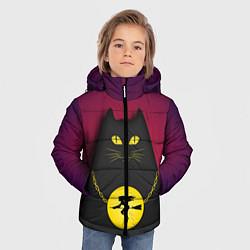Куртка зимняя для мальчика Кот Бегемот цвета 3D-черный — фото 2