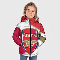 Куртка зимняя для мальчика FC Arsenal цвета 3D-черный — фото 2