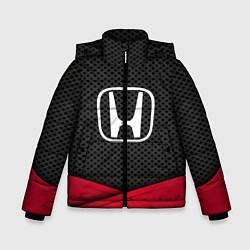 Куртка зимняя для мальчика Honda: Grey Carbon цвета 3D-черный — фото 1