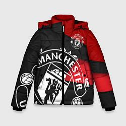 Куртка зимняя для мальчика FC Man United: Exclusive цвета 3D-черный — фото 1