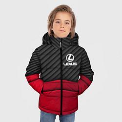 Куртка зимняя для мальчика Lexus: Red Carbon цвета 3D-черный — фото 2