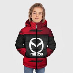 Детская зимняя куртка для мальчика с принтом Mazda Sport, цвет: 3D-черный, артикул: 10152931906063 — фото 2