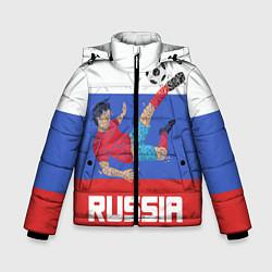 Куртка зимняя для мальчика Russia Footballer цвета 3D-черный — фото 1