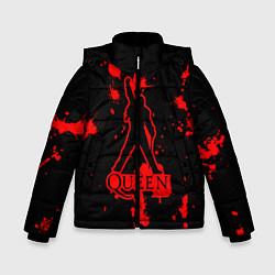 Куртка зимняя для мальчика Queen: Blood Style цвета 3D-черный — фото 1