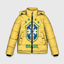 Детская зимняя куртка для мальчика с принтом Brazil Team, цвет: 3D-черный, артикул: 10154256306063 — фото 1