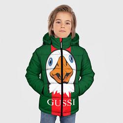 Куртка зимняя для мальчика GUSSI Beak цвета 3D-черный — фото 2